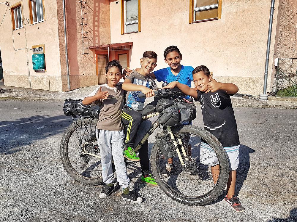 Slovakian kids with Lara