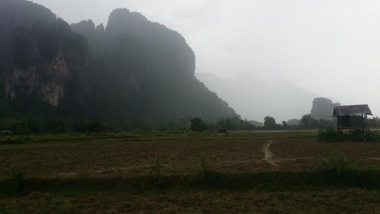 Rain in Vang Vieng, Laos