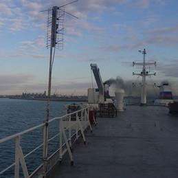Crossing the Caspian Sea from Aktau to Baku