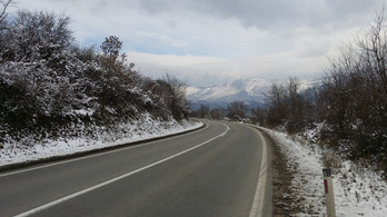 Coming down a pass in Serbia