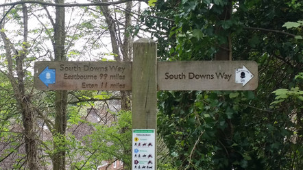 Start of the South Downs Way