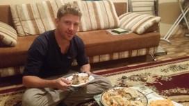 Happy and well fed in Aktau, Kazakhstan