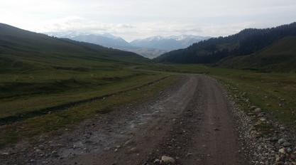 Over a pass in Kyrgyzstan