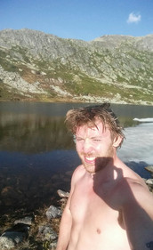 A very cold swim