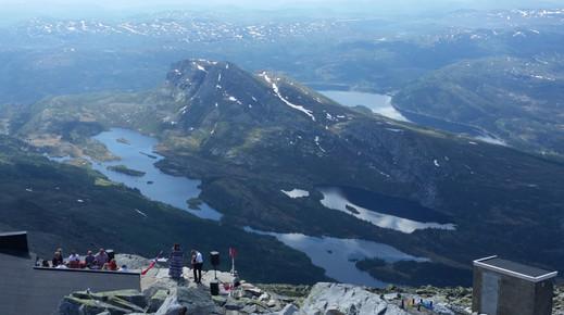 Near the summit of Gaustatoppen