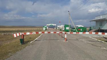 Central Asian border crossing, Kazakhstan/Kyrgyzstan