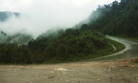 A steep pass into the clouds, Laos between Vang Vieng and Luang Prabang