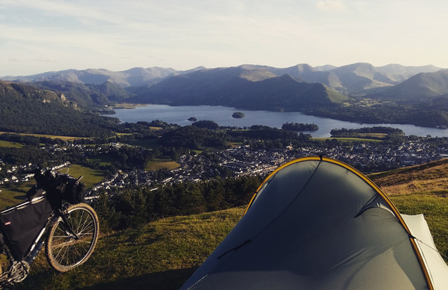 Camping over Keswick, Lake District