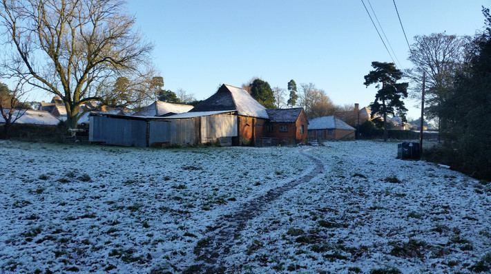 Frosty mornings on the farm