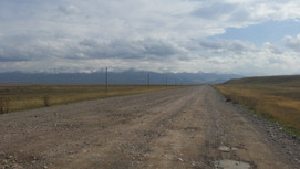 The Kazakhstan/Kygyzstan border