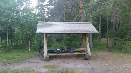 Rest stop in Estonia