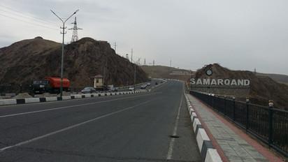 Entering Samarkand, Uzbekistan