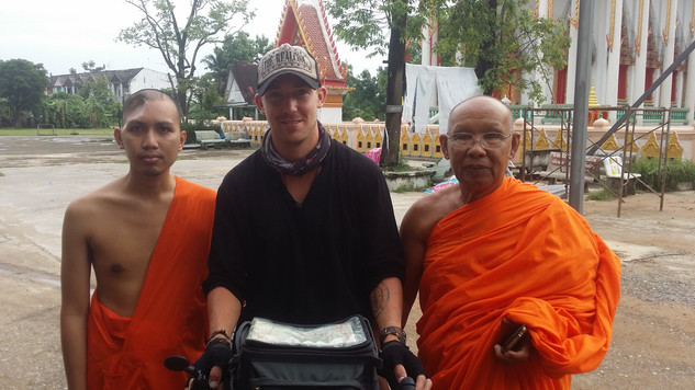 Some of the many monks I stayed with in Thailand