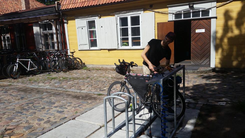 Preparing to leave Riga