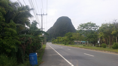 One of the many carsts of southern Thailand