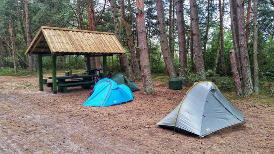 Camping by Lake Engures, Latvia