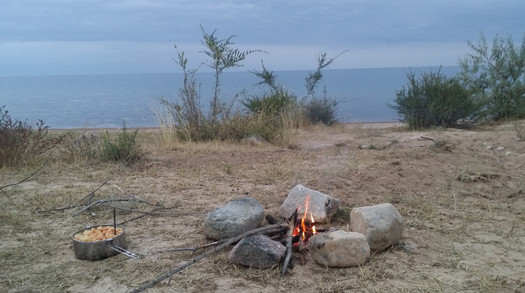 Camp life, Lake Issyk-Kul, Kyrgyzstan