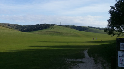 Looking back, South Downs Way
