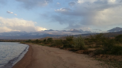 Lake Issyk-Kul and the Tien Shan Mountains, Kyrgyzstan