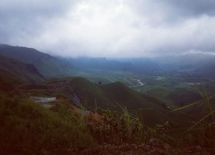 Top of a pass, Laos