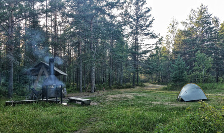 Camping deep in the woods in Estonia
