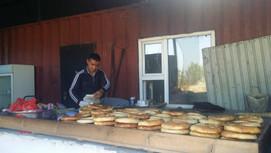 Roadside bakery in Kazakhstan