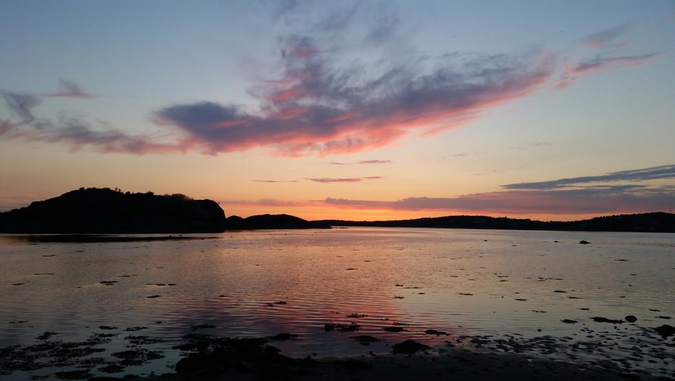 Sunset on the North Sea coast, Sweden