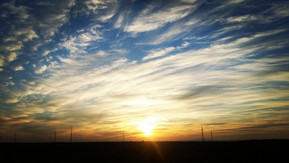 Cold nights and beautiful sunsets in the deserts of Uzbekistan