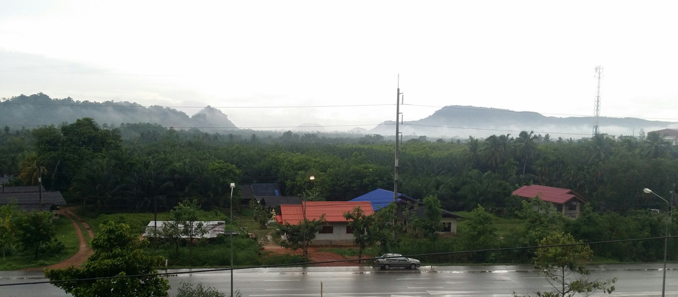 Sweeping monsoon rains in Thailand