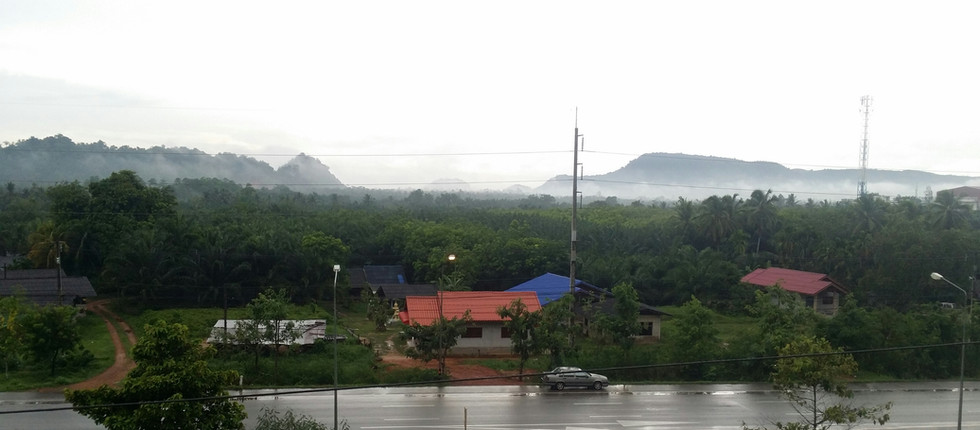 Sweeping monsoon rains in Thailand