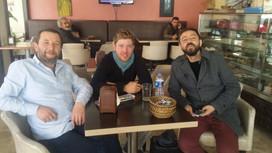 Sharing tea in Turkey