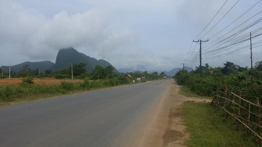 Approaching Vang Vieng, Laos