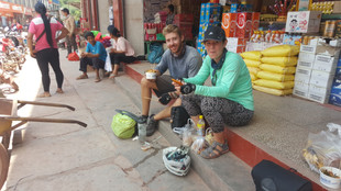 Refuelling at the market, Yunnan