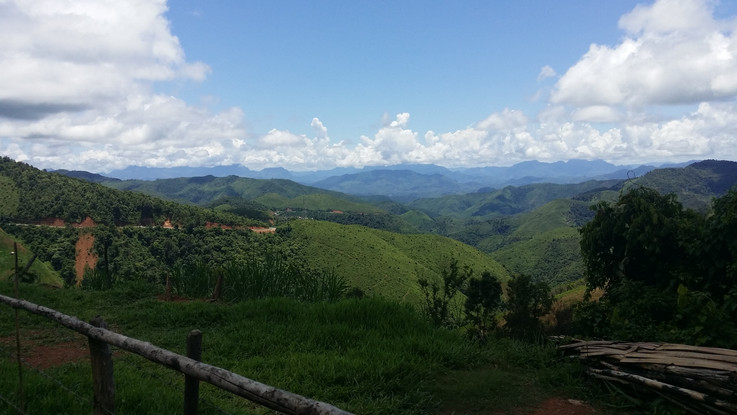The mountains on northern Laos