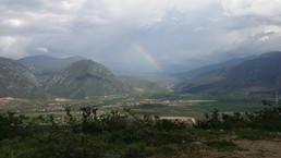 Rainbow over the valley, Yunnan