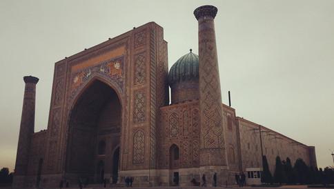 The Registan in all of its glory. Samarkand, Uzbekistan
