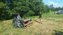 Rest stop in Latvia