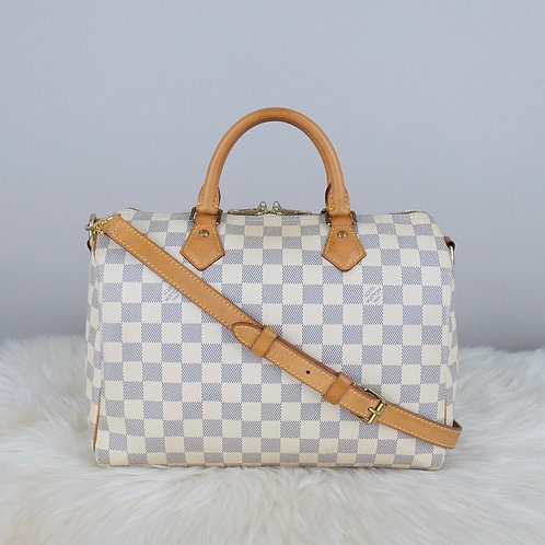LOUIS VUITTON SPEEDY 30 BANDOULIERE DAMIER AZURE  - SP0175