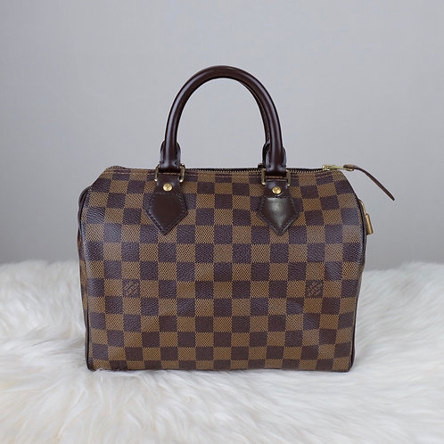 LOUIS VUITTON SPEEDY 25 DAMIER EBENE - SP0027