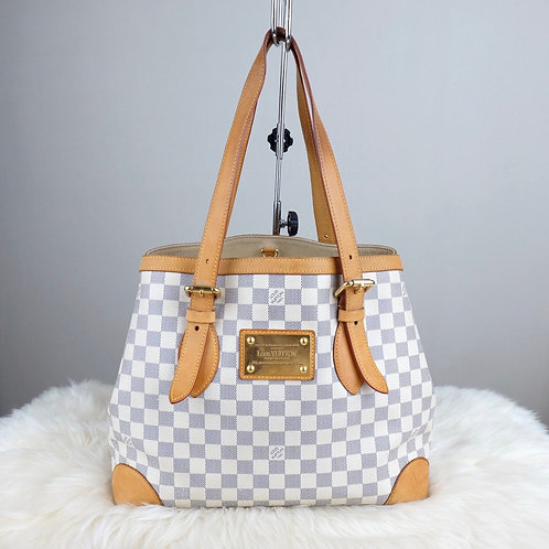 LOUIS VUITTON HAMPSTEAD MM DAMIER AZURE - BD0358 Date codes: CA1058 Made in Spai