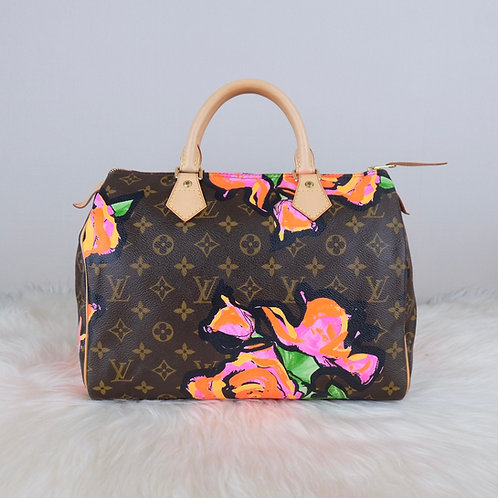 LOUIS VUITTON SPEEDY 30 ROSE STEPHEN SPROUSE LIMITED EDITION - SP5018