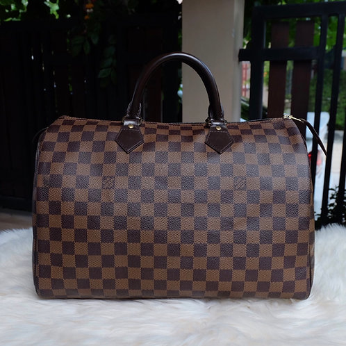 LOUIS VUITTON SPEEDY 35 DAMIER EBENE - BD1111