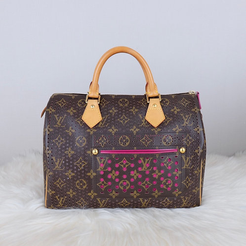 LOUIS VUITTON SPEEDY 30 PERFORATED FUCHSIA MONOGRAM LIMITED EDITION - MB0036