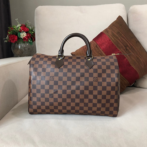 LOUIS VUITTON SPEEDY 35 DAMIER EBENE BD0052