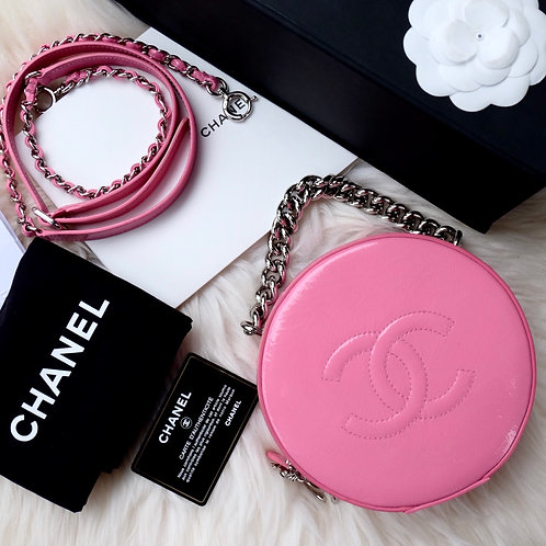 CHANEL ROUND AS EARTH PINK PATENT SHW - 26785689
