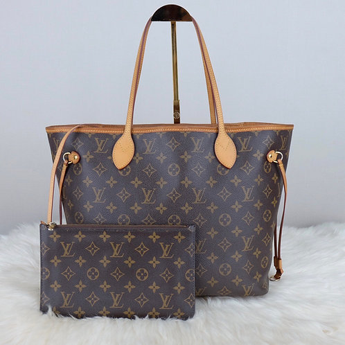 LOUIS VUITTON NEVERFULL MM MONOGRAM MIMOSA W/ POUCH  - SF5103