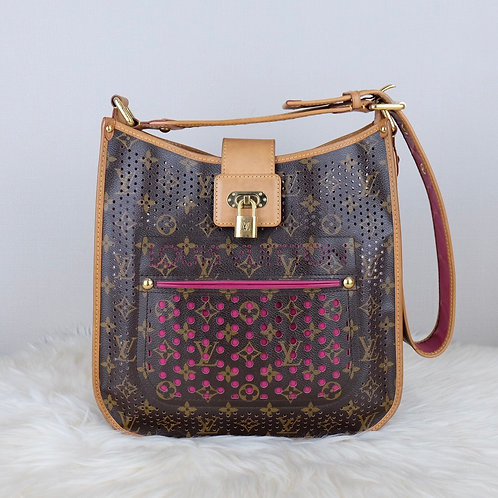 LOUIS VUITTON PERFORATED MUSETTE FUCHSIA MONOGRAM LIMITED EDITION