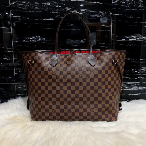 LOUIS VUITTON NEVERFULL GM DAMIER EBENE - BD0020