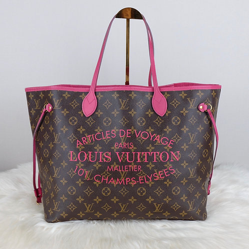 LOUIS VUITTON NEVERFULL GM ROSE INDIAN IKAT LIMITED EDITION  - TJ1143