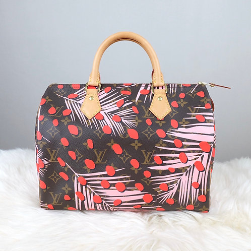 LOUIS VUITTON SPEEDY 30 JUNGLE DOTS PLAM SPRINGS LIMITED EDITION - BD0179